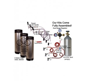 3 Faucet Refrigerator Economy Conversion Kit for Homebrew 3 kegs