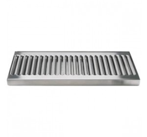 12 x 5 surface mount stainless steel drip tray